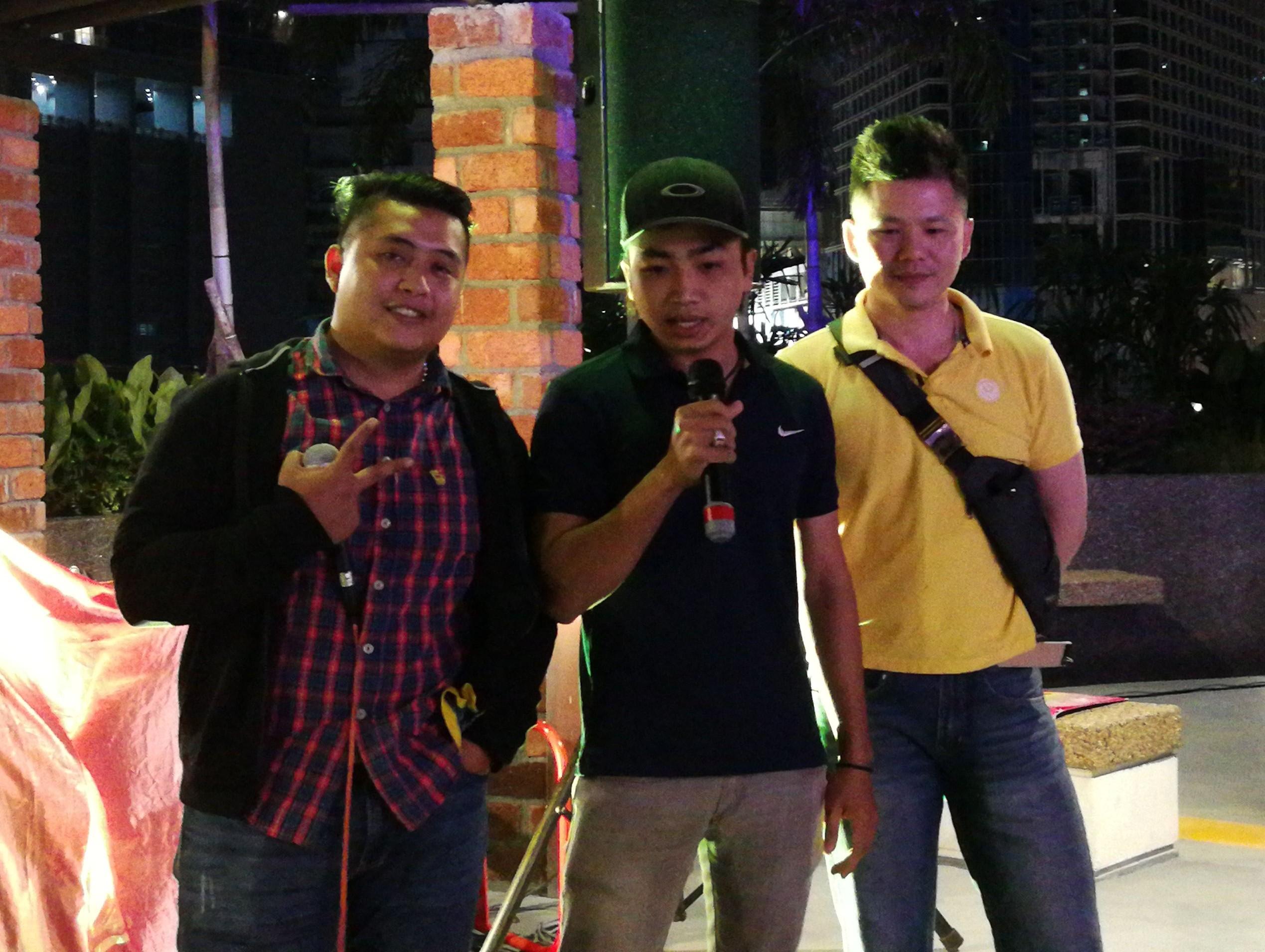 Staff presented karaoke song